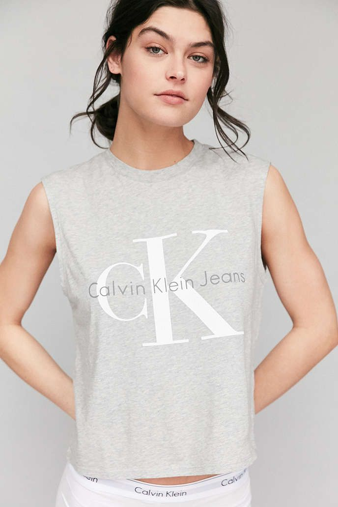 9a89d18af194d8 Calvin Klein For UO Muscle Tee - Urban Outfitters