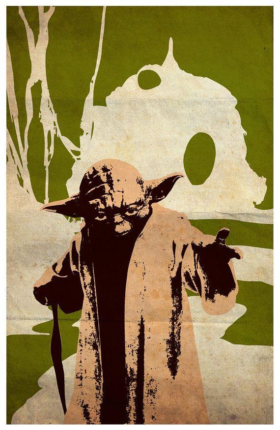 Vintage Pop Art Star Wars Series A - Obi-Wan Kenobi, R2-D2, C-3PO ...