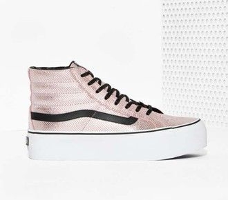 7d16870fe1 shoes metallic pink high top sneakers vans pink sneakers platform sneakers  metallic sneakers