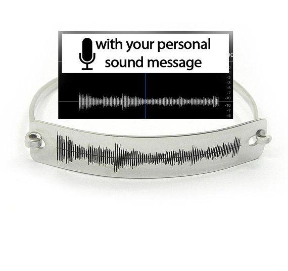 Personal Soundwave Bracelet Waveform Custom Sound