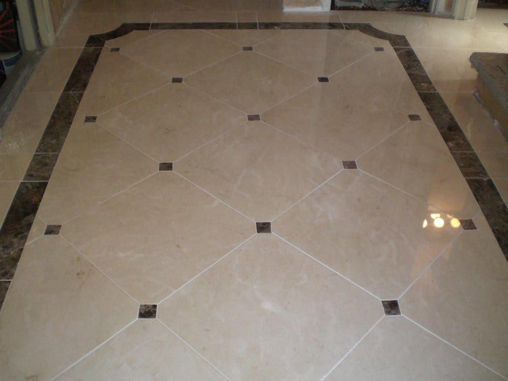 Custom Marble Floor With 33939x33939 Clipped Corners With Border Tiles For Floors India Marble Floor Marble Flooring Design Marble Border