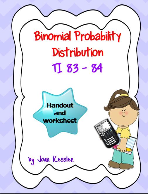 Statistics Binomial Distribution TI 83 84 Plus Worksheet