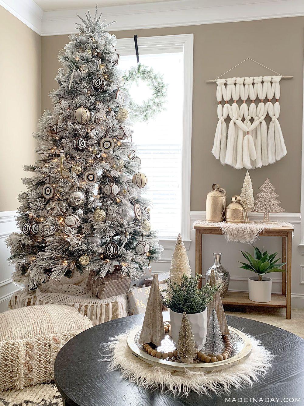 Christmas Tree Ornaments Primitive Ornament Holiday Decorations. Modern Farmhouse Boho Holiday Farmhouse Christmas Christmas Ornament