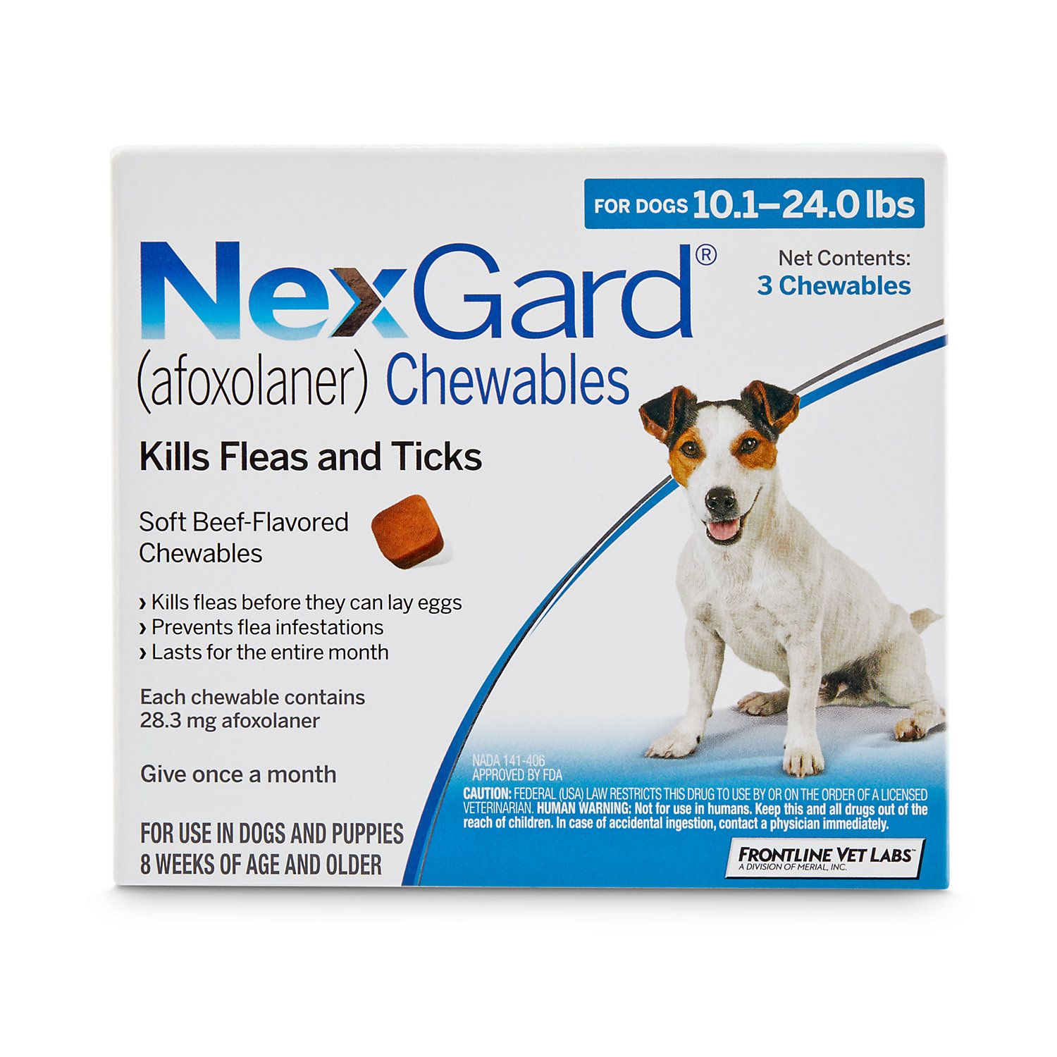 Nexgard Chewables Blue For Dogs 10 1 To 24 Lbs 3 Pack In 2019 Fleas Flea Tick Ticks