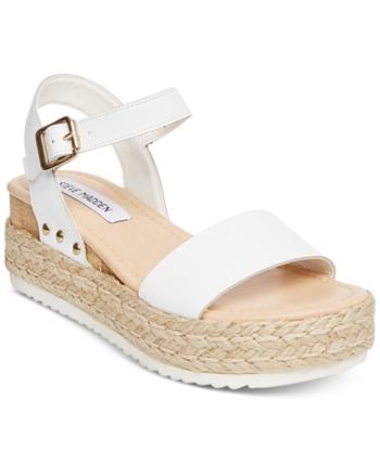 a0e6f6ca9b Steve Madden Women's Chiara Flatform Espadrille Sandals - White 11M