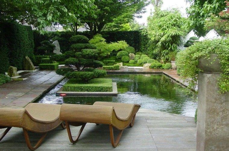 jardín japones precioso con bonsáis paisajismo Pinterest