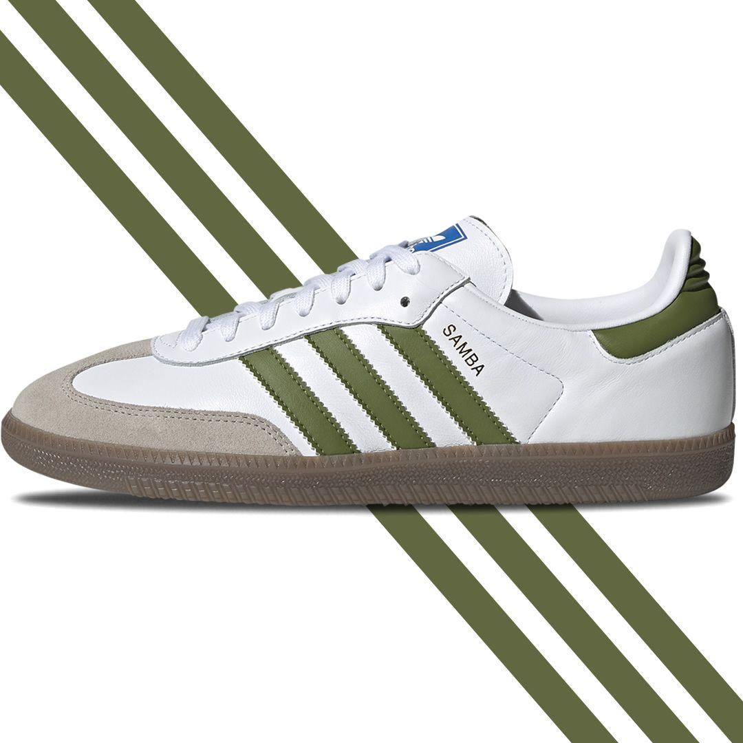 reputazione prima servizio duraturo come comprare Stunning 80s adidas Samba leather in White/Olive with gum sole ...