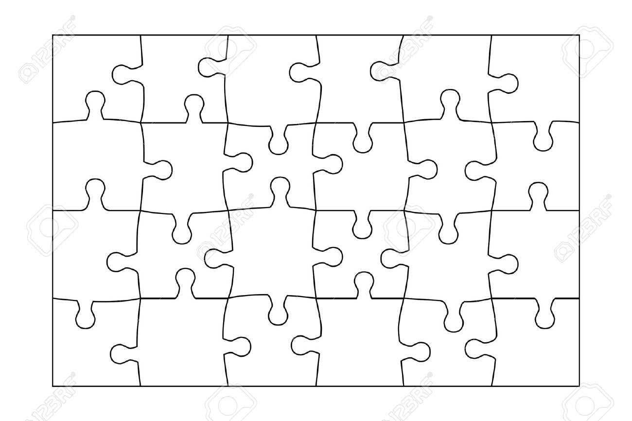 24 piece puzzle template - Google Search | Cake Ideas | Pinterest