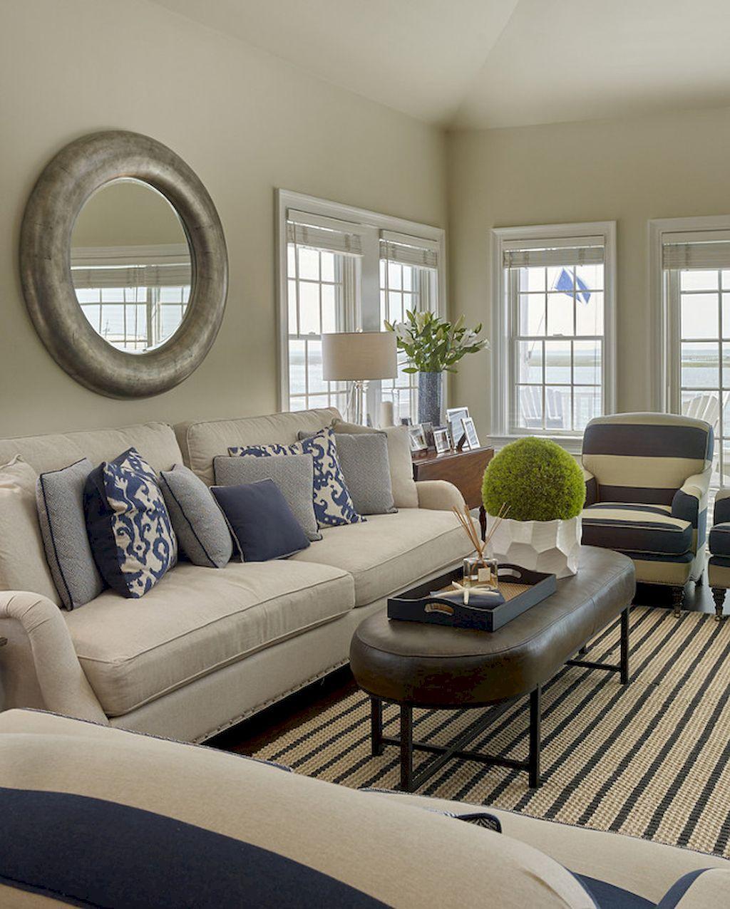 50 Gorgeous Coastal Living Room Decoration Ideas  Coastal Living Amazing Coastal Living Room Designs Design Decoration