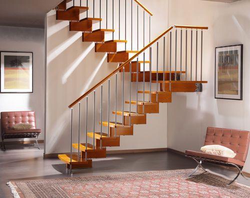 Escalera en u pelda o de madera de caracol estructura for Formula escalera