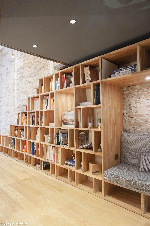 Architecte De L Intérieur escalier bibliotheque agence caaz architecture grenoble bois