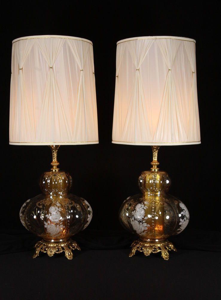 Amber Glass Lamp Base - Gnubies.org