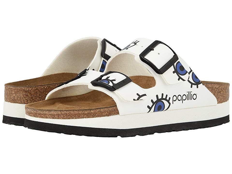 0bd53f49ec8 Birkenstock Arizona Platform (Eyes White Birko-Flor) Women s Shoes. Please  be advised