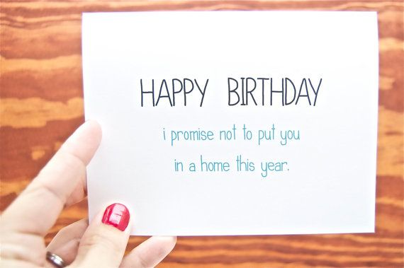 Funny Birthday Card Birthday Card Mom Birthday Dad Birthday
