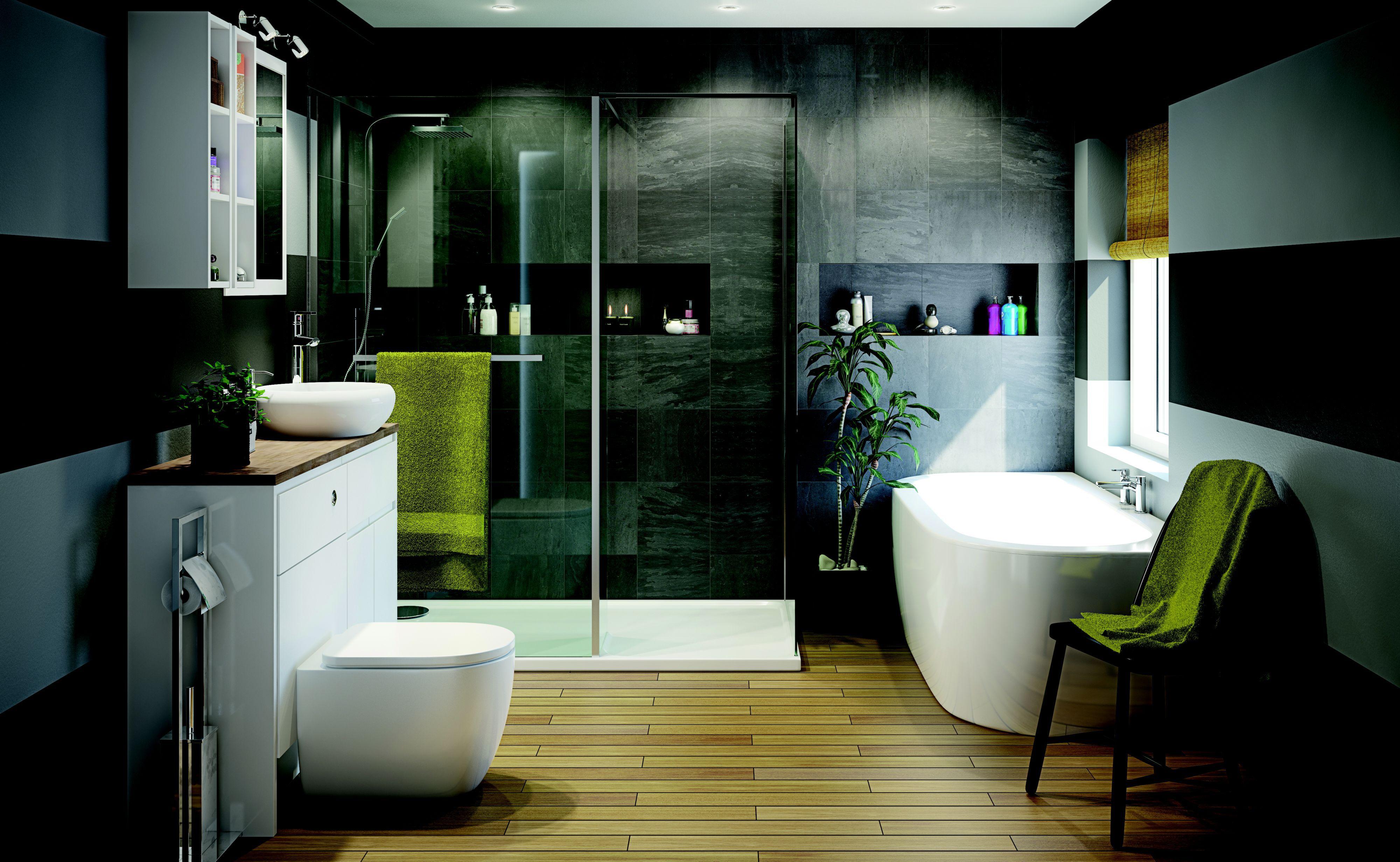 B And Q Bathroom Design Service In 2020 Modern Bathroom Design Freestanding Tub Shower Contemporary Bathroom Decor