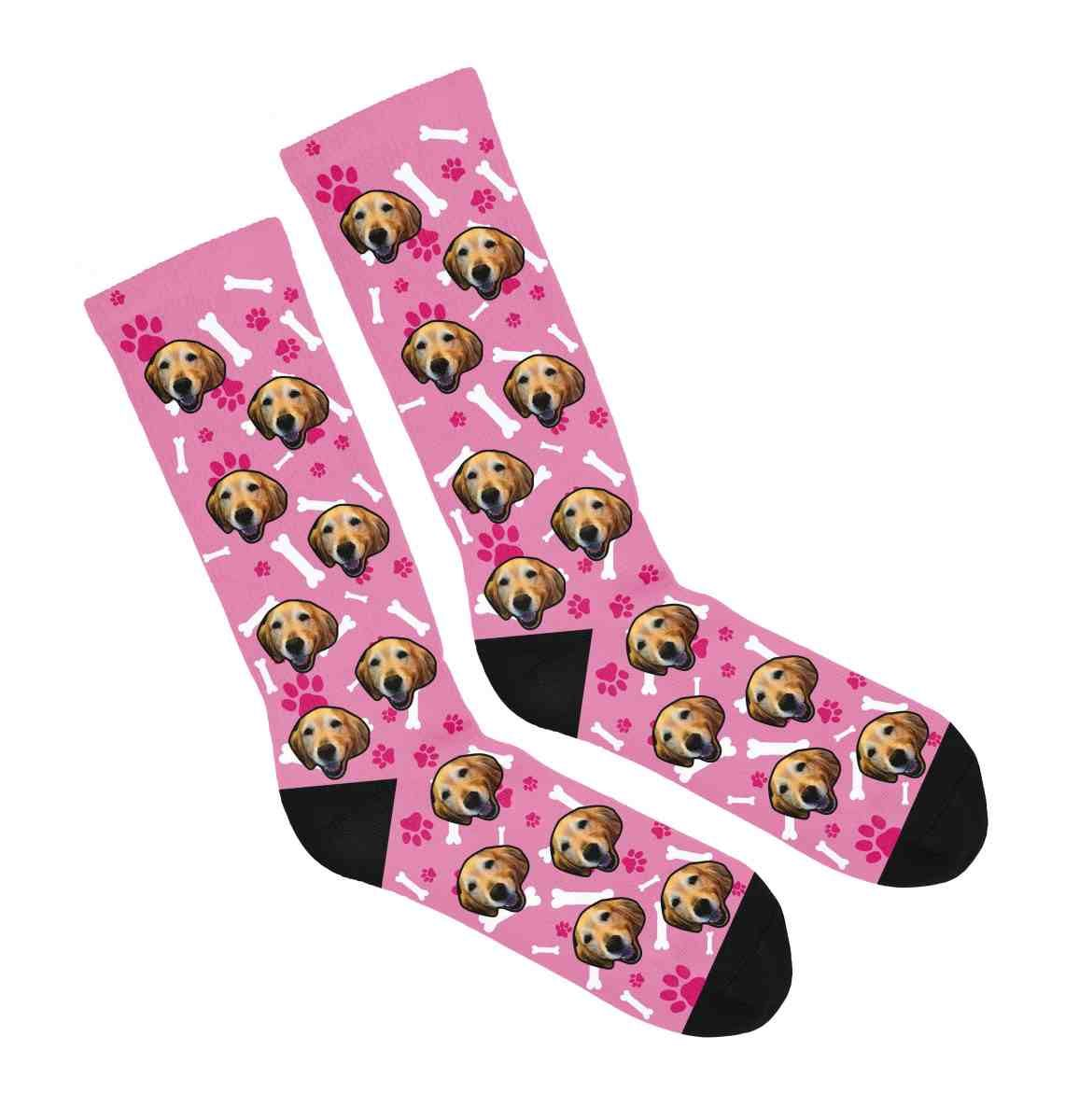 Print your pup on a beautiful pair of cozy socks show off your