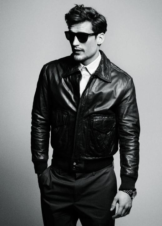 Longueur veste cuir homme
