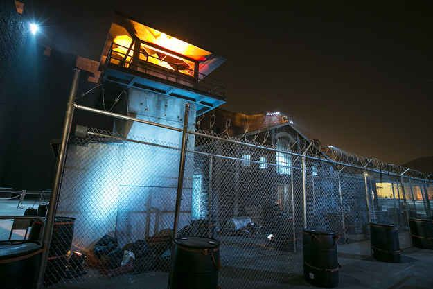 When I sought haven in this prison from The Walking Dead . | 25 Times I Was Scared Out Of My Mind At Universal Studios' Halloween Horror Nights