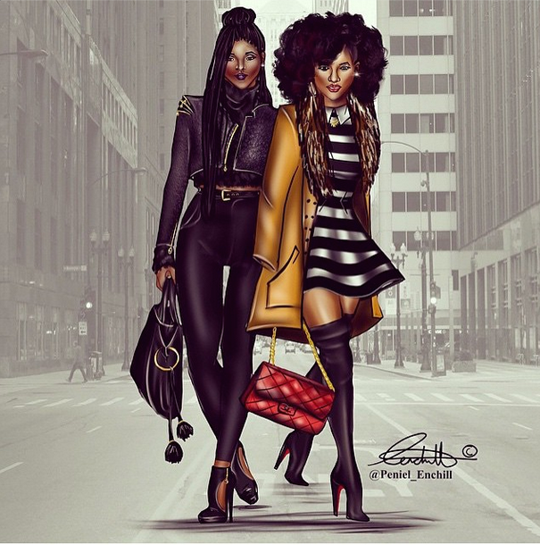 African American Girls Fashion: Fashion Drawings By Peneil Enchill Fashion Bomb Daily