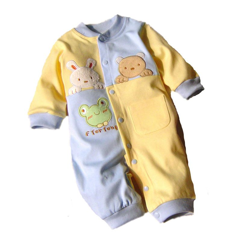 c45364629de8 2017 Baby Rompers Cotton Long Sleeve 0-12M Baby Clothing Overalls ...