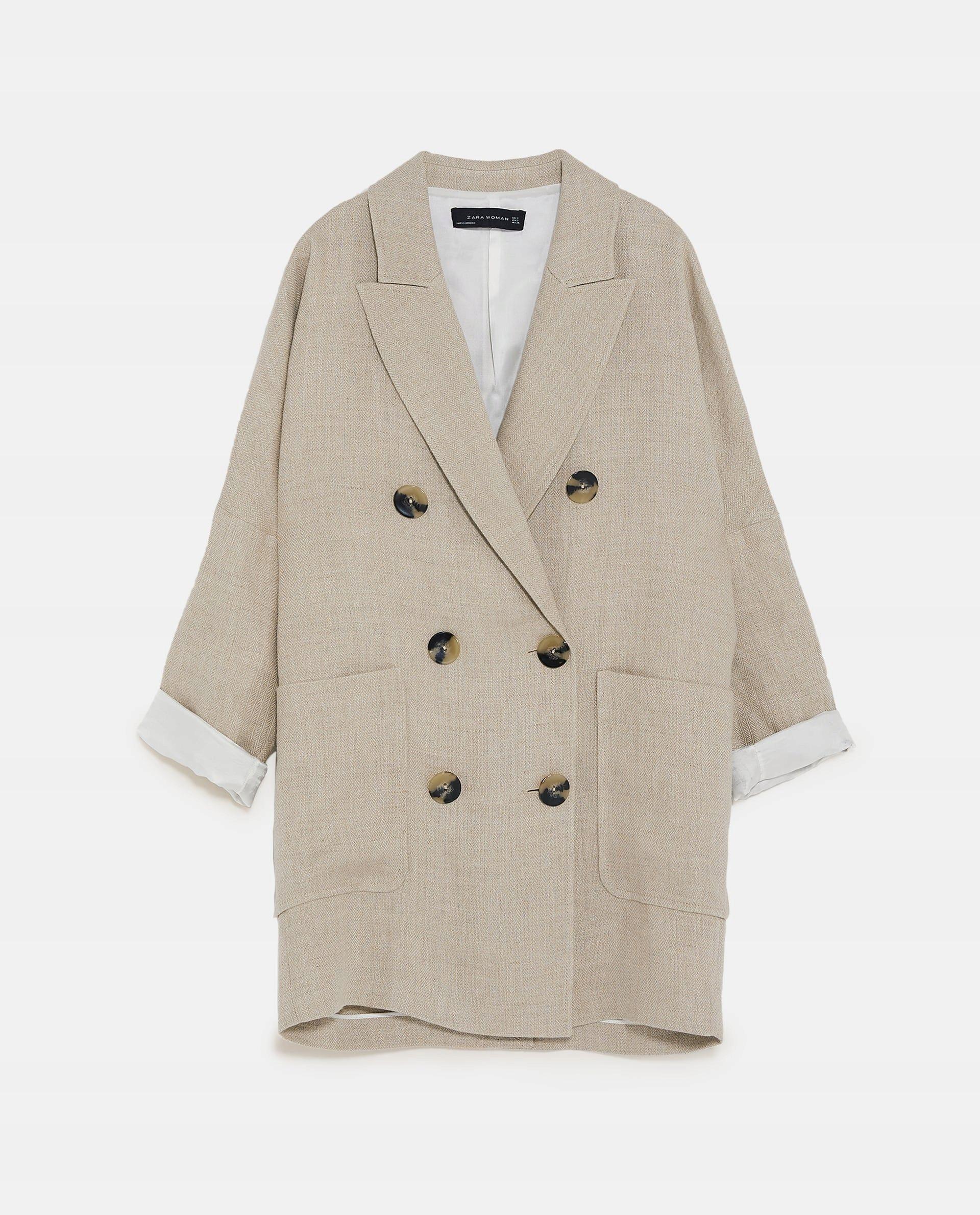 Lniana Marynarka Zara Xs Plaszcz 399 Zl 7469079161 Oficjalne Archiwum Allegro Coat Fashion Zara