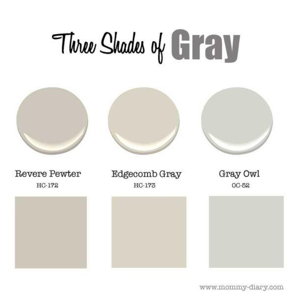Three Shades Of Gray: Revere Pewter & Edgecomb Gray