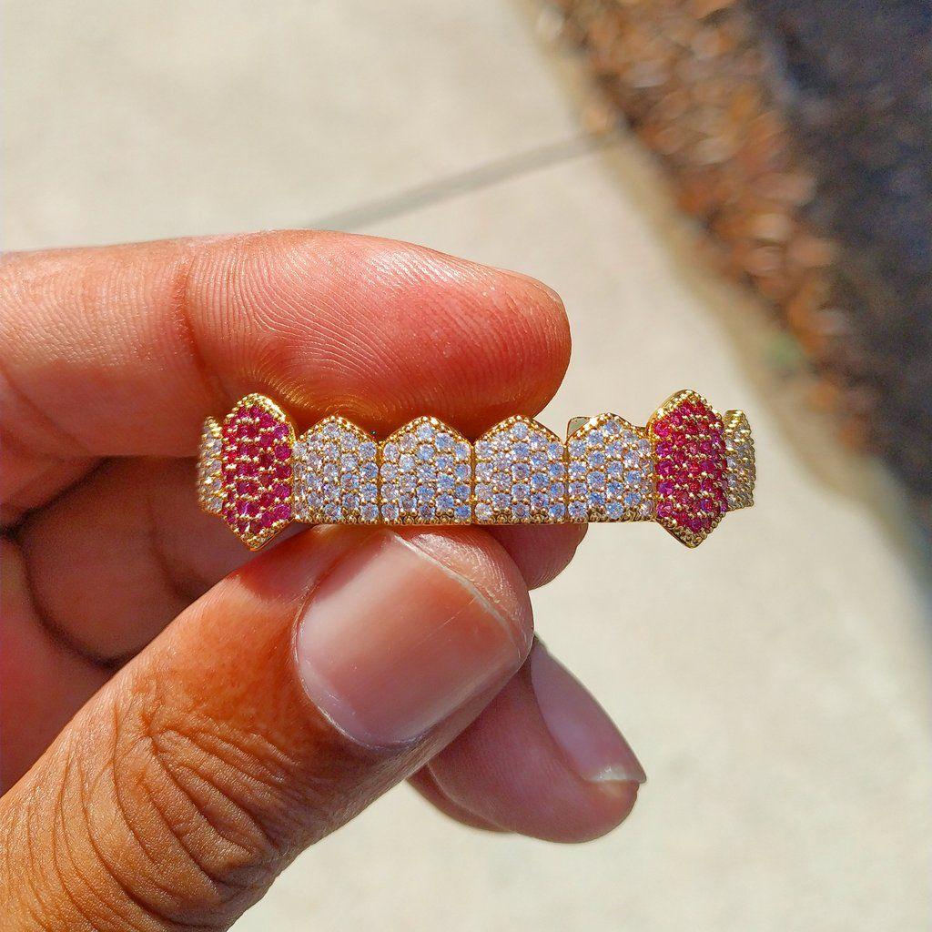 14K Jaune Plaqué Or véritable Améthyste /& Diamant 925 Sterling Silver Ring