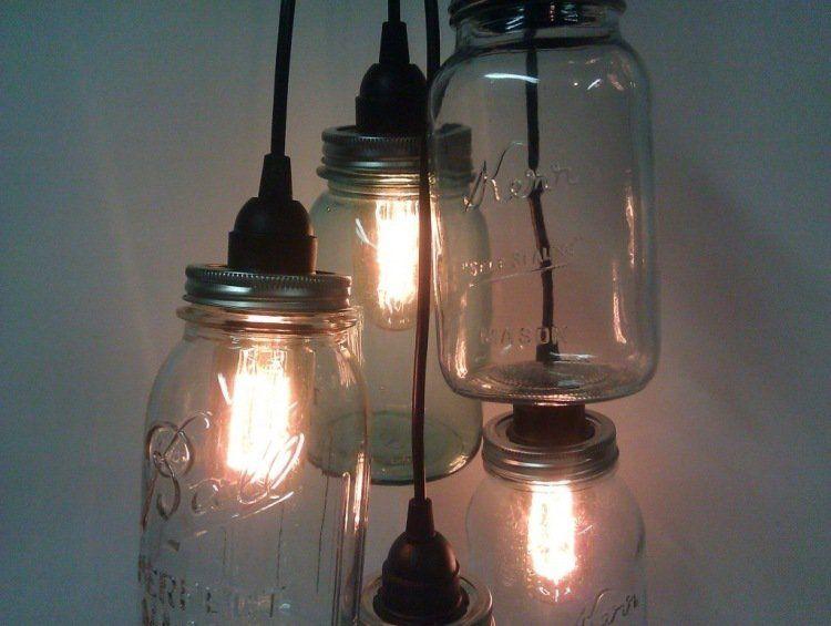fabriquer une suspension id es cr atives et instructions luminaires pinterest d coration. Black Bedroom Furniture Sets. Home Design Ideas
