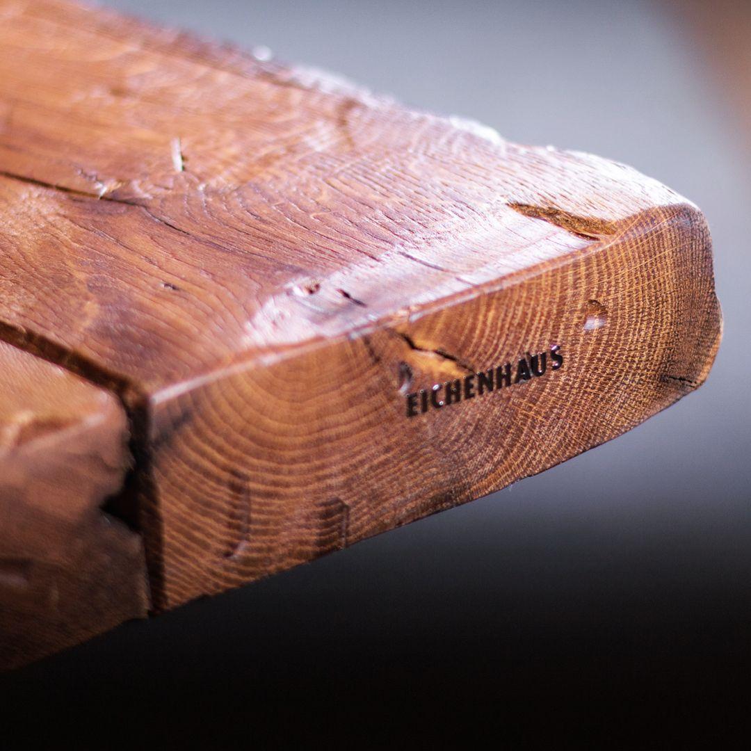 5 0 0 Y E A R S Wunderbar Gezeichnete Esstischplatte Aus Funf Extra Breiten 25 Cm 500 Jahre Alten Fachwerk Eiche Altholz Balken F O R M A T