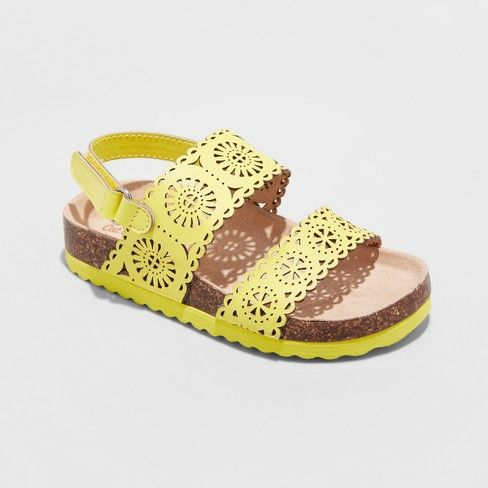 3317ee402f432e Toddler Girls  Gwenivive Footbed Sandals - Cat   Jack™   Target ...