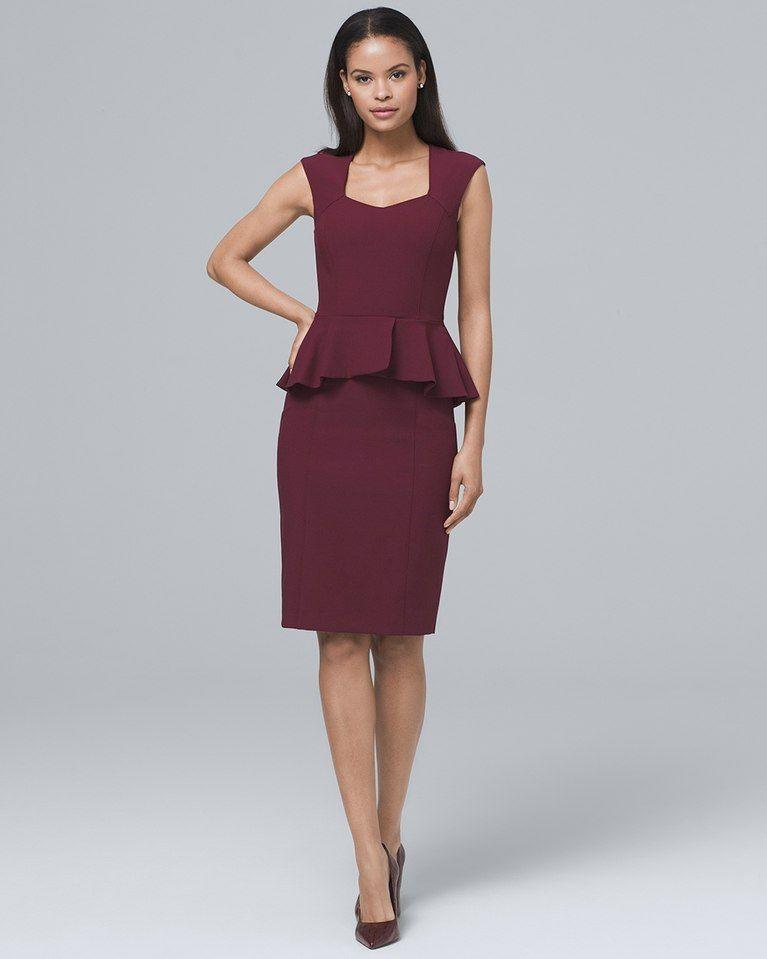 7d2665ef Women's Body Perfecting Peplum Sheath Dress by White House Black Market