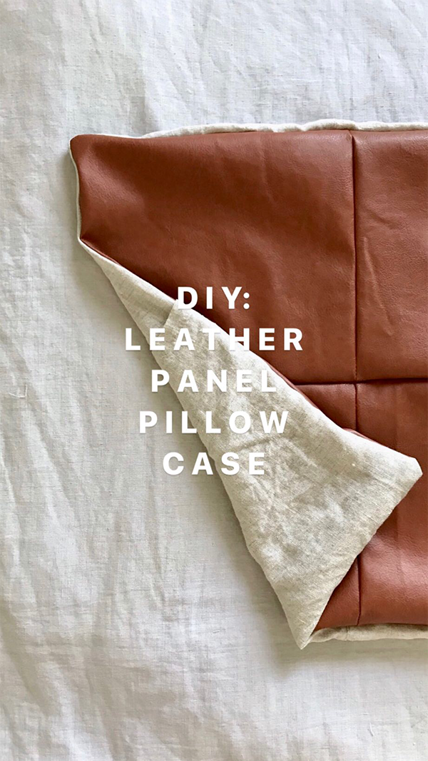 Diy Faux Leather Panel Pillow Case Diy Leather Projects