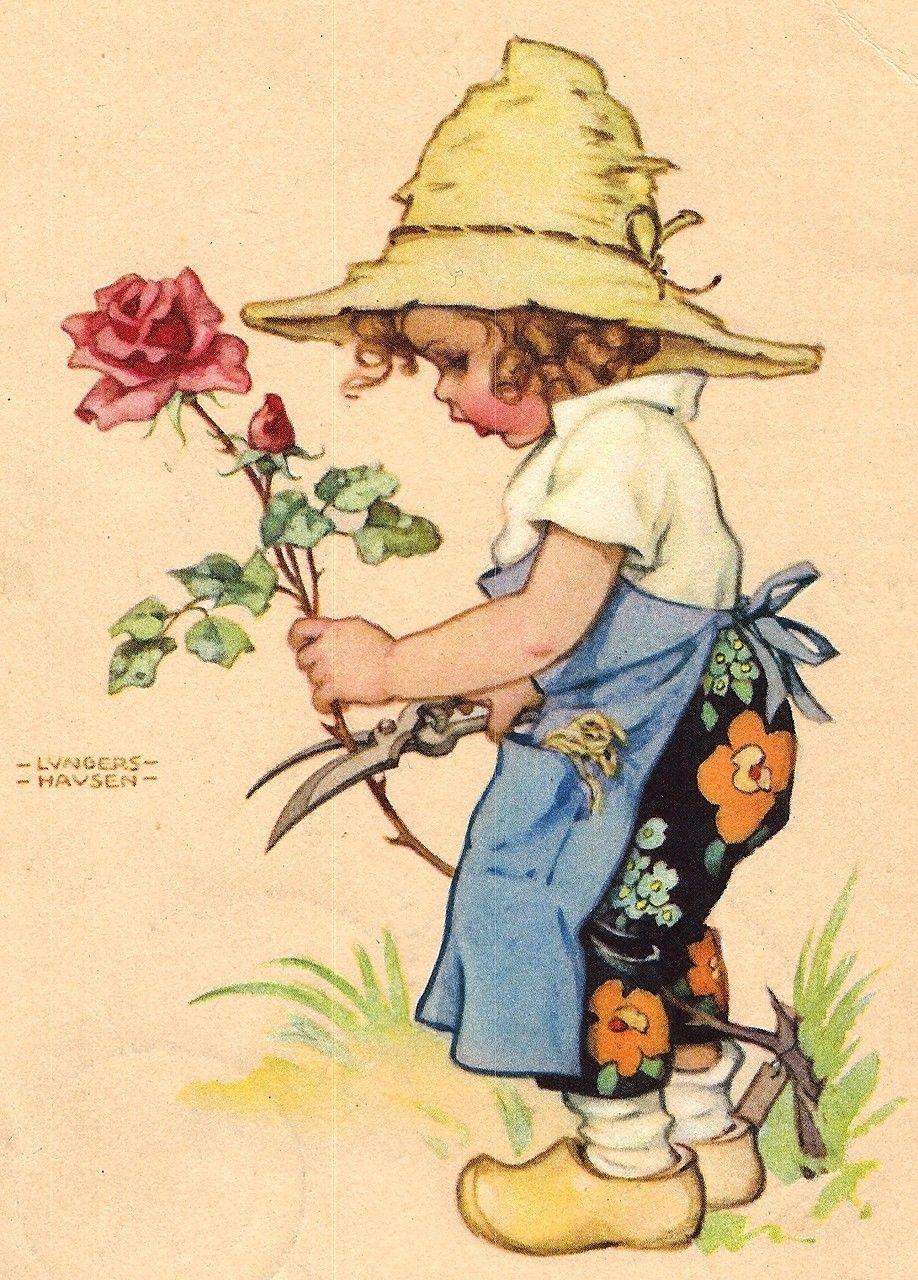 Немецкие старые открытки с детьми