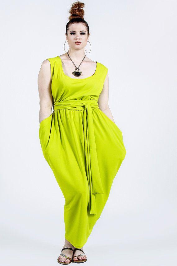 JIBRI Plus Size ärmellos Maxi w Hip Detail | DIY Kleider & Co ...