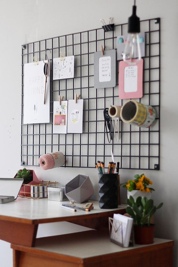 Black Wire Wall Organizer Iron Mesh By Tweelingenhomedecor