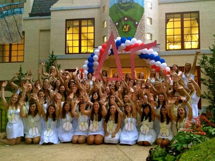 University of Georgia Bid Day 2012! Welcome to Delta Gamma! 75 Beautiful new members (quota was 59 with an additional 8 allowance for upperclassmen -- 3 legacies!)!!