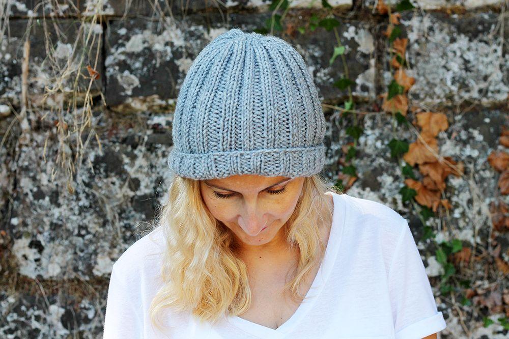 Easy Beginner Hat Knitting Pattern Handylittleme Free Patterns
