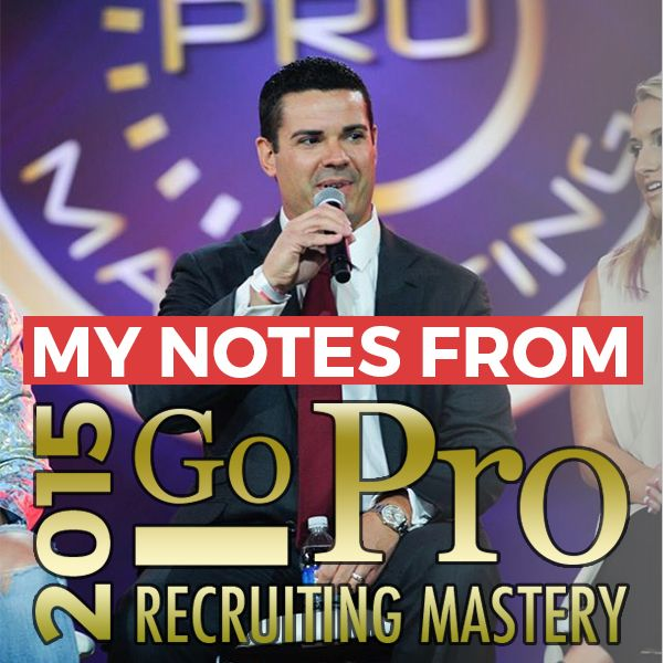 Eric worre and how to recruit 20 people in 30 days my network notes from the eric worre go pro network marketing event httprayhigdon fandeluxe Gallery