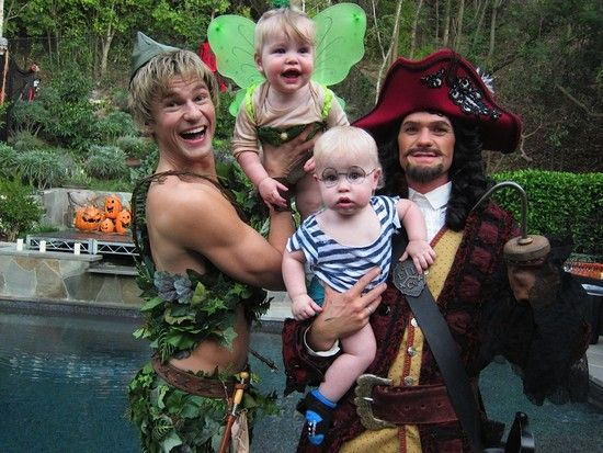 Neil Patrick Harris and his family. :) give this man an award for best father of the year