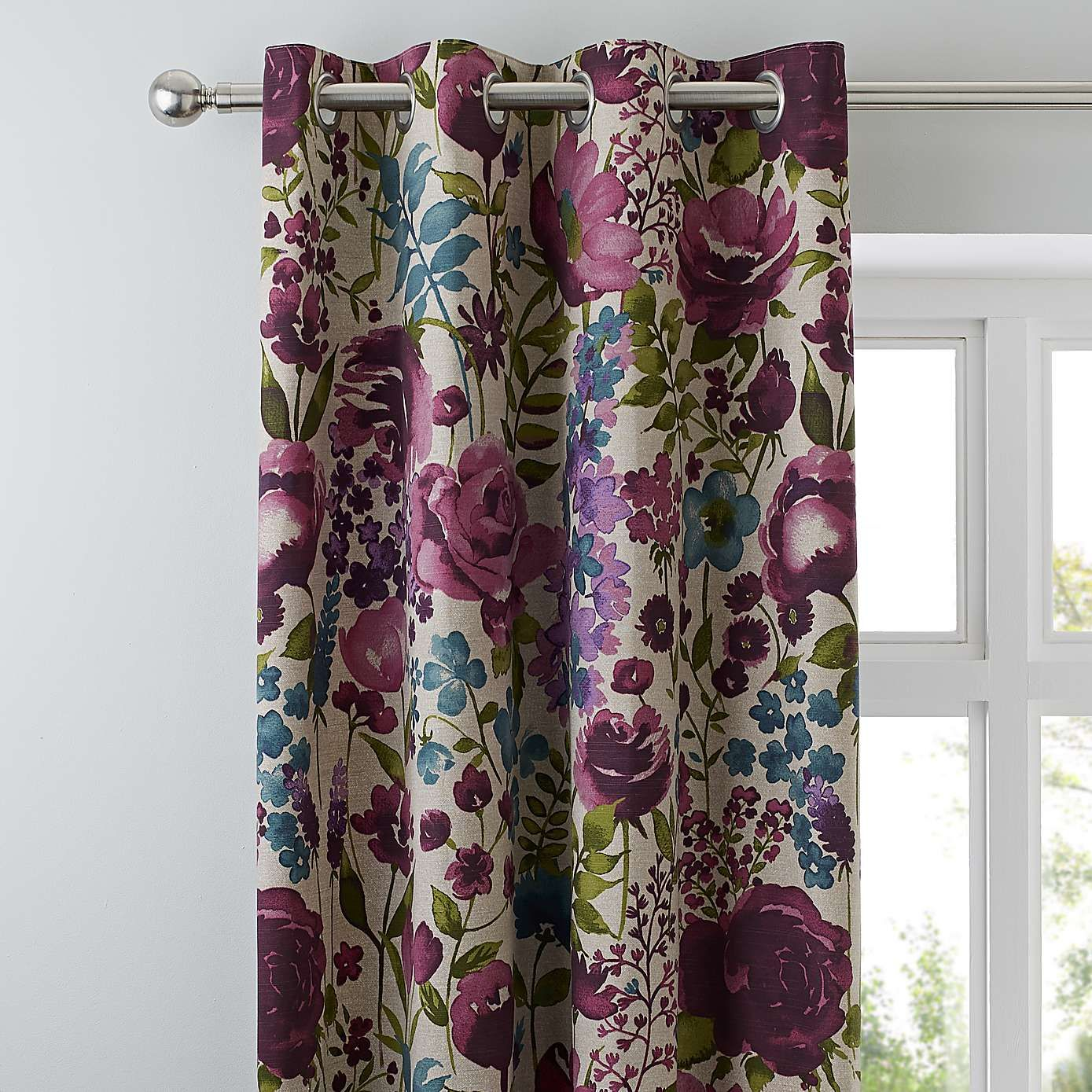 Misty Meadow Lined Eyelet Curtains Dunelm Ready Made Eyelet Curtains Curtains Dunelm Curtains