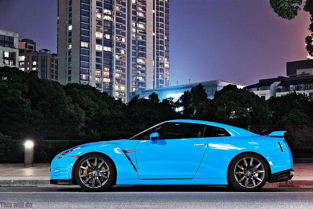 Baby Blue Nissan Gtr Nissan Gtr R35 Gtr