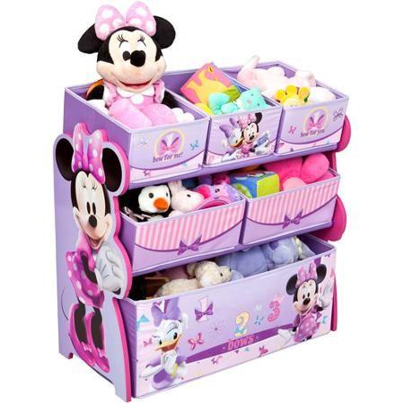 disney multi bin toy organizer minnie mouse gabby s minnie room