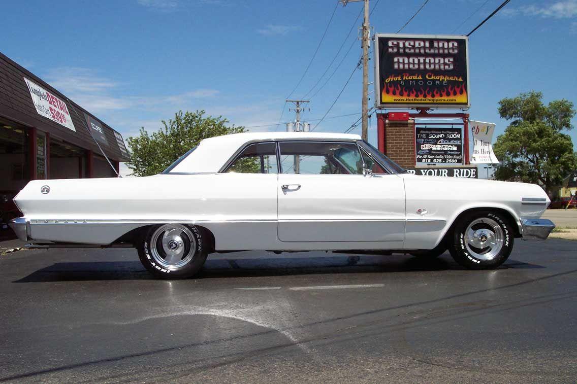 I Love Muscle Cars White Chevrolet Impala 1963 Super Sport Chevrolet Impala Chevrolet Impala 1963 Impala