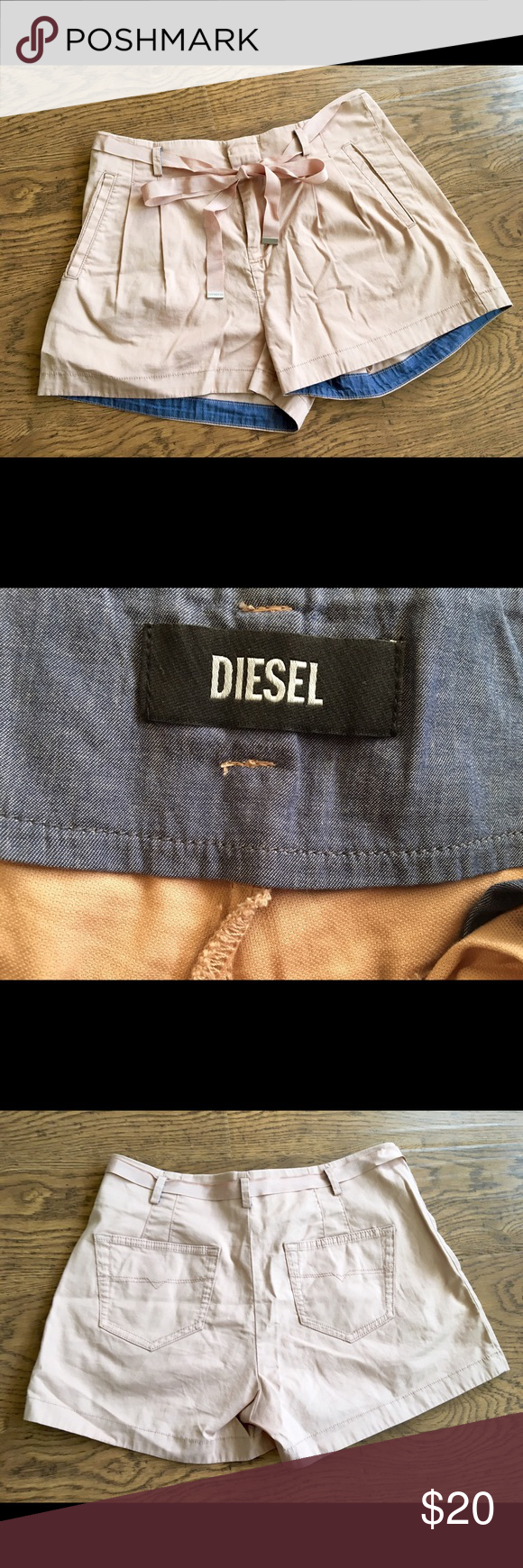 Diesel shorts never worn Super cute Diesel shorts in size 27. Never worn. Just cleaning out my closet. Get lucky  Diesel Shorts