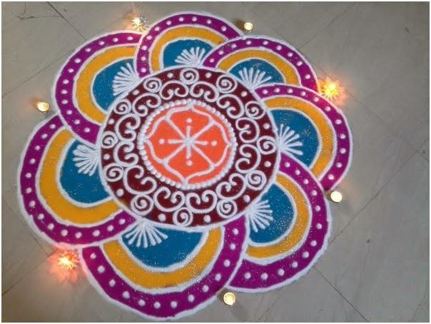 Collection Of Hundreds Free Rangoli Photo Design From All Over World