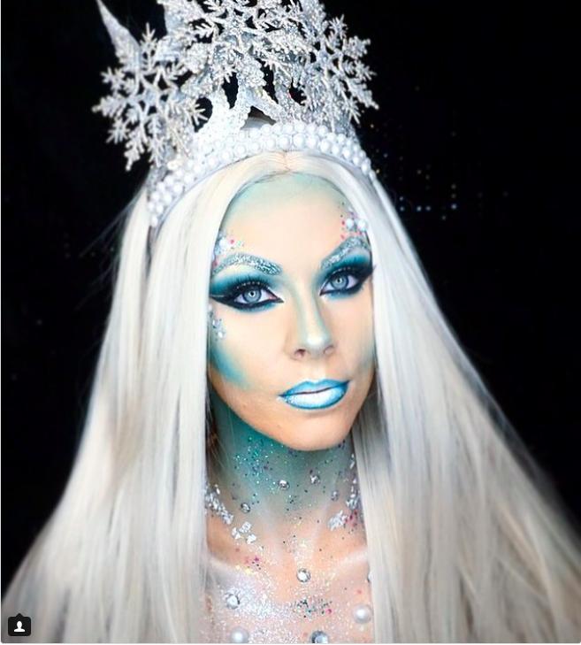 28 Ice Queen Halloween Makeup Looks That Are Chill Af Ice Queen Makeup Halloween Makeup Looks Ice Princess Makeup