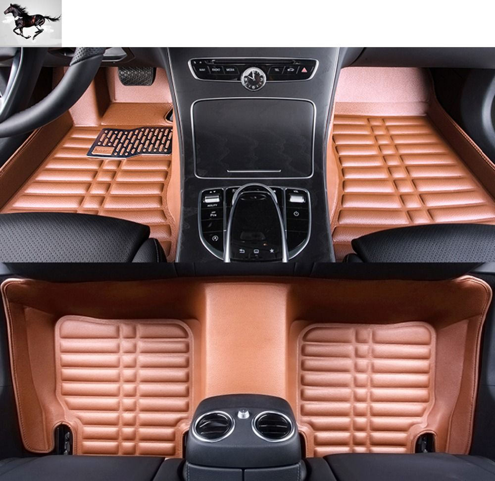 stiching red leather black okutech com bmw fit dp floor full amazon xpe for custom car mats luxury waterproof automotive