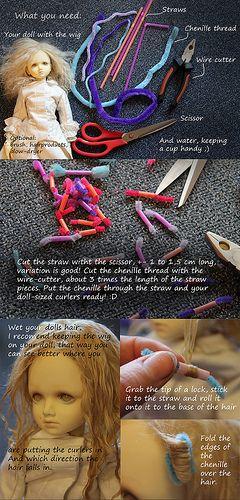 840d450bdad How to curl mohair, tutorial part 1 | BJD Tutorials & Resources ...