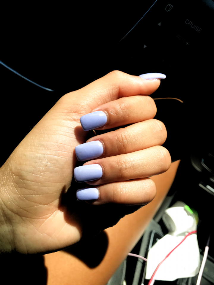 purple nails square nails gel nails #disney nails