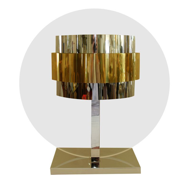Rare Pierre Cardin Lucite Brass Chrome Table Lamp | From A Unique  Collection Of Antique And Modern Table Lamps At ...